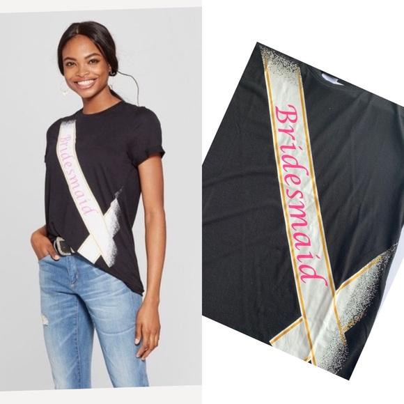 Bridesmaid T-shirt Modern Lux Black